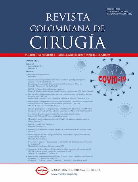 Ver Vol. 35 Núm. 2 (2020): Especial COVID-19